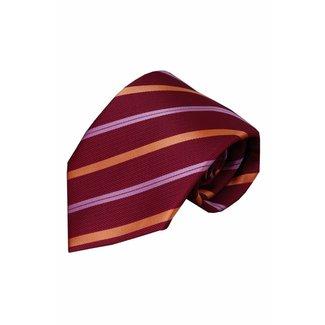 Vincelli Alberto  Red silk necktie Laghi 01