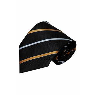 Vincelli Alberto  Black silk necktie Figline 01