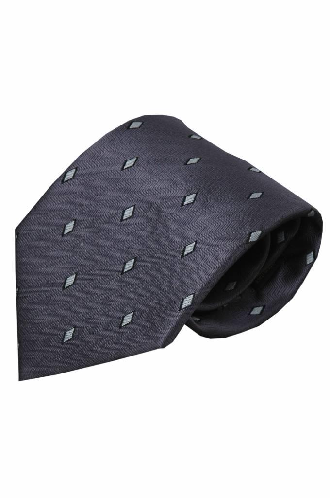Grijze zijden stropdas Cantone 01