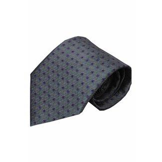 Vincelli Alberto  Gray silk necktie Alazio 01
