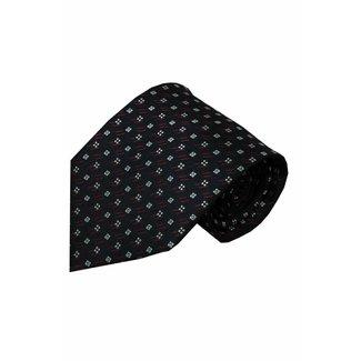 Vincelli Alberto  Blue silk necktie Olmo 01