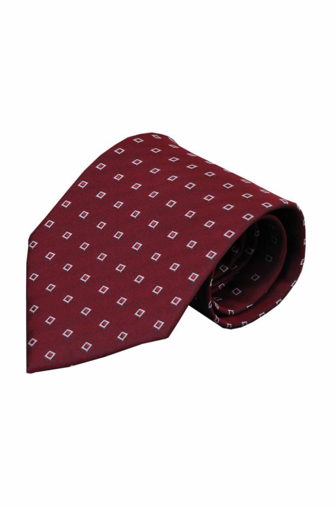 Rode zijden stropdas Guzelli 01