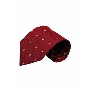 Vincelli Alberto  Red silk necktie Erba 01