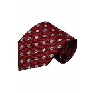 Vincelli Alberto  Red silk necktie Albenga 01