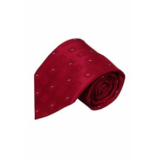 Vincelli Alberto  Rode zijden stropdas Reggio 01