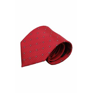 Vincelli Alberto  Red silk necktie Norcia 01