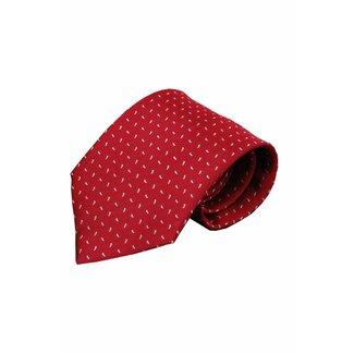 Vincelli Alberto  Red silk necktie Ferro 01
