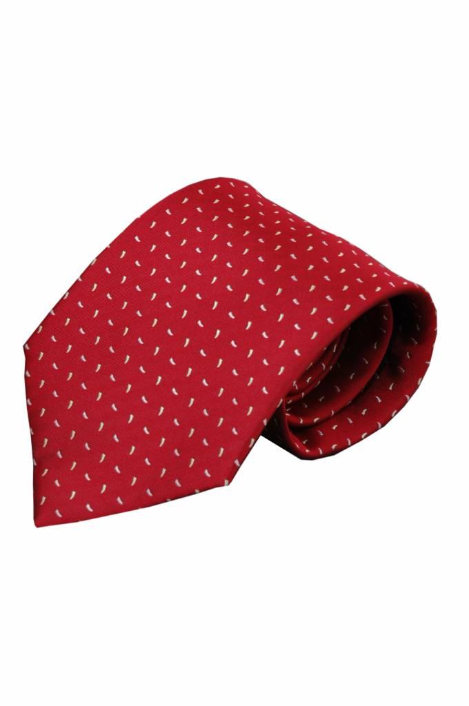 Rode zijden stropdas Ferro 01
