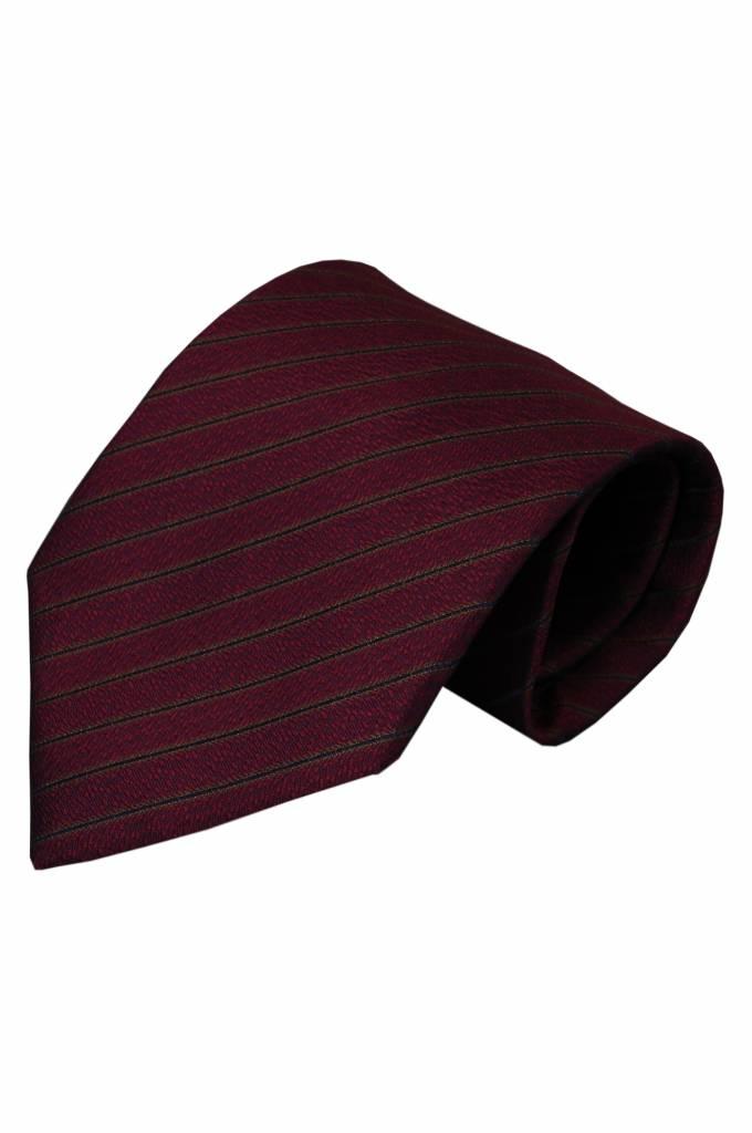 Rode zijden stropdas Telve 01