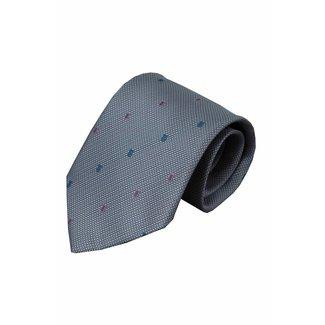 Vincelli Alberto  Gray silk necktie Ulmi 01