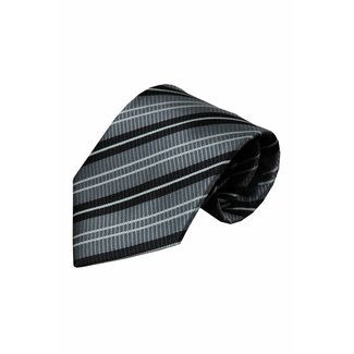 Vincelli Alberto  Grey silk necktie Lenta 01