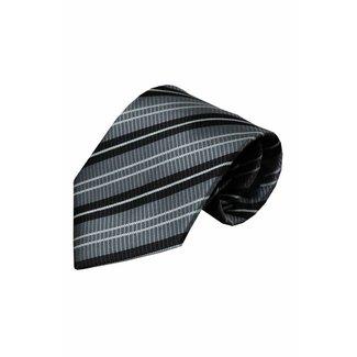 Vincelli Alberto  Grijze zijden stropdas Lenta 01