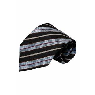 Vincelli Alberto  Black silk necktie Fisole 01
