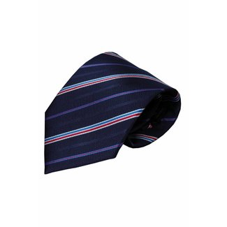 Vincelli Alberto  Blue silk necktie Eddo 01