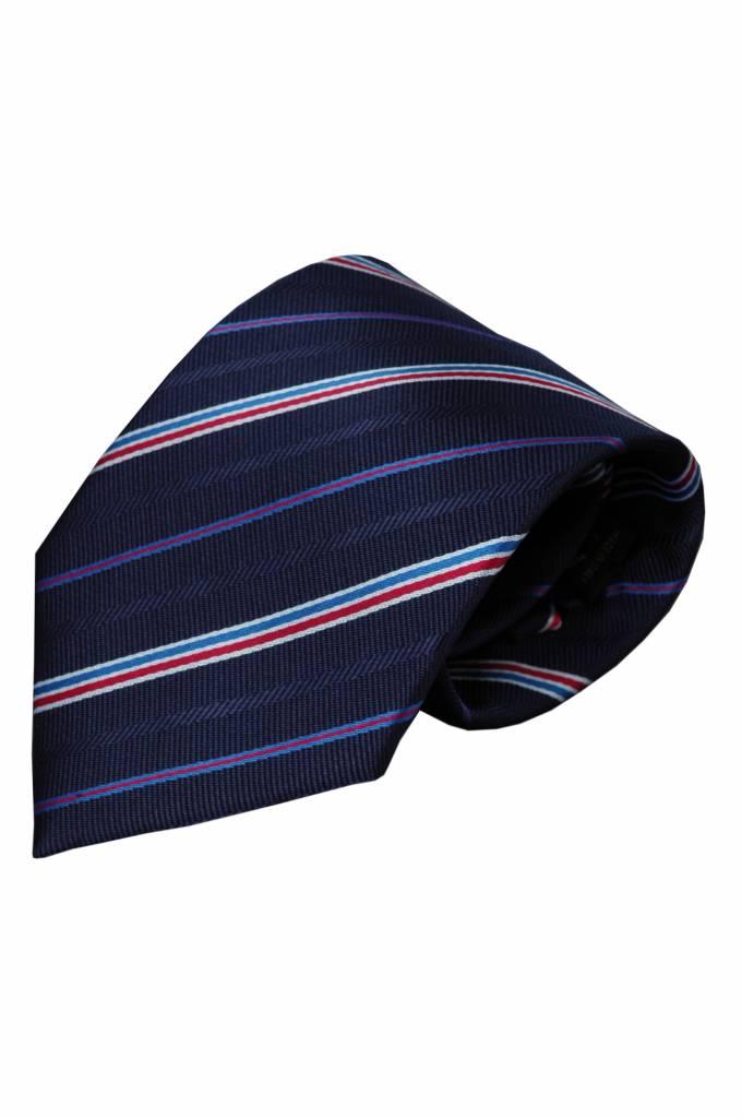 Blue neck tie Eddo by Alberto Vincelli | Italian Design