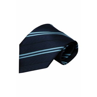 Vincelli Alberto  Blauwe zijden stropdas Aosta 01
