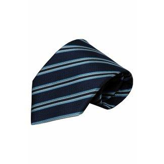 Vincelli Alberto  Blauwe zijden stropdas Zibello 01