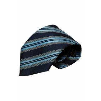 Vincelli Alberto  Blue silk necktie Valdorno 01