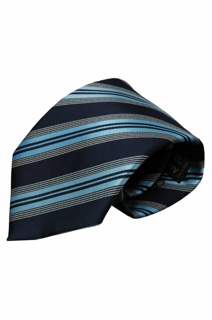 Blauwe zijden stropdas Valdorno 01