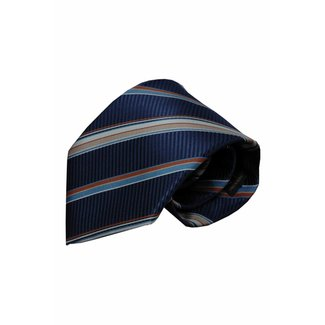 Vincelli Alberto  Blauwe zijden stropdas Trieste 01