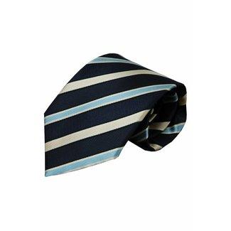 Vincelli Alberto  Blauwe zijden stropdas Penne 01