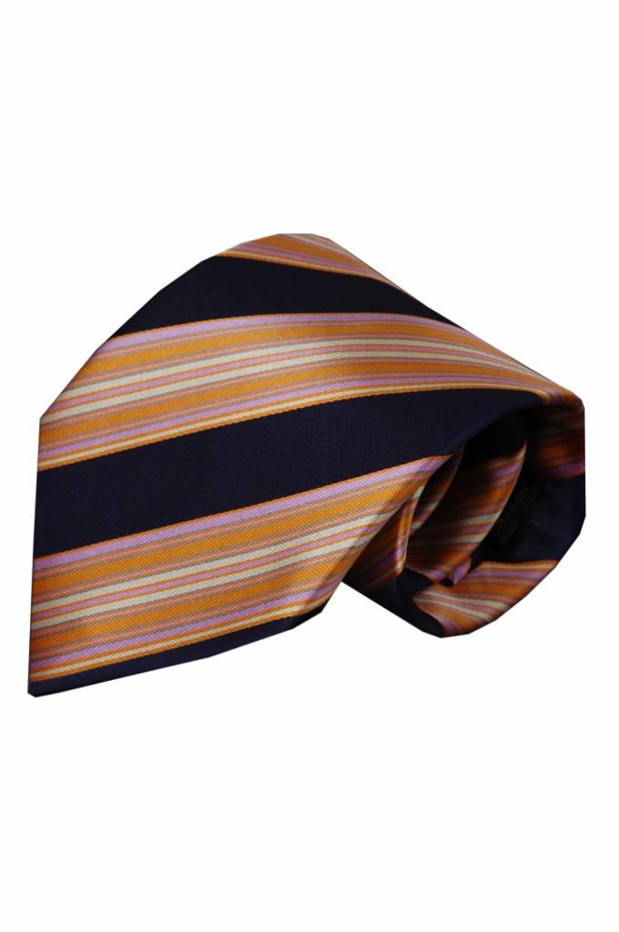 Blauwe zijden stropdas Malfa 01
