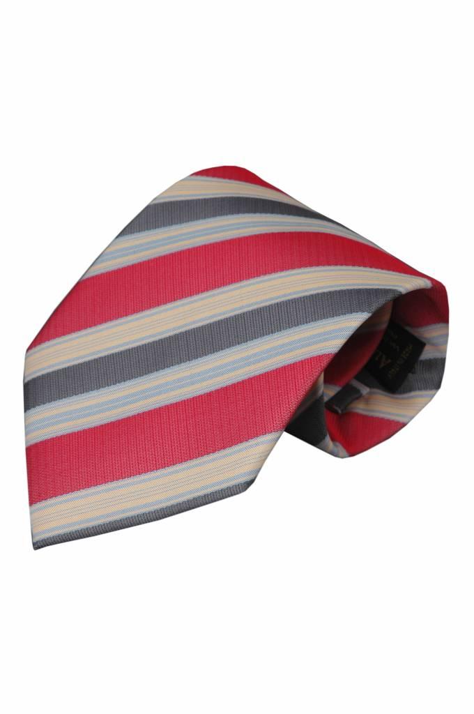 Rode zijden stropdas Gavi 01