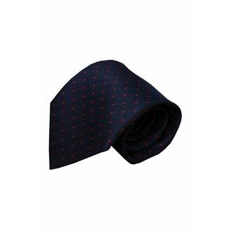 Vincelli Alberto  Blauwe zijden stropdas Vada 01