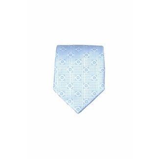 Massimo-Valeri  Blauwe zijden stropdas M24