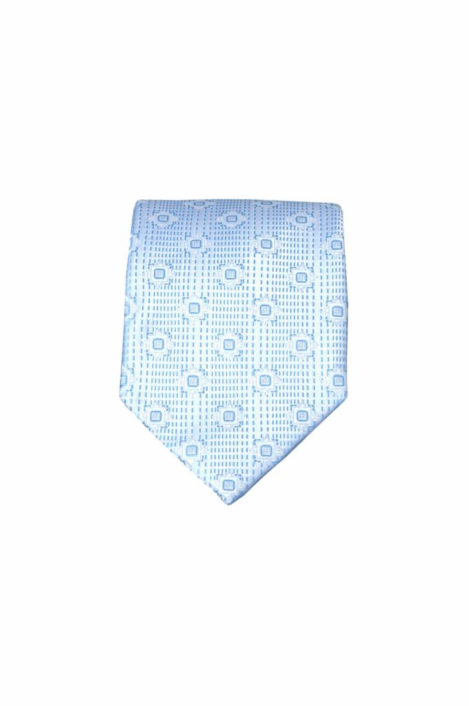 Blauwe zijden stropdas M24