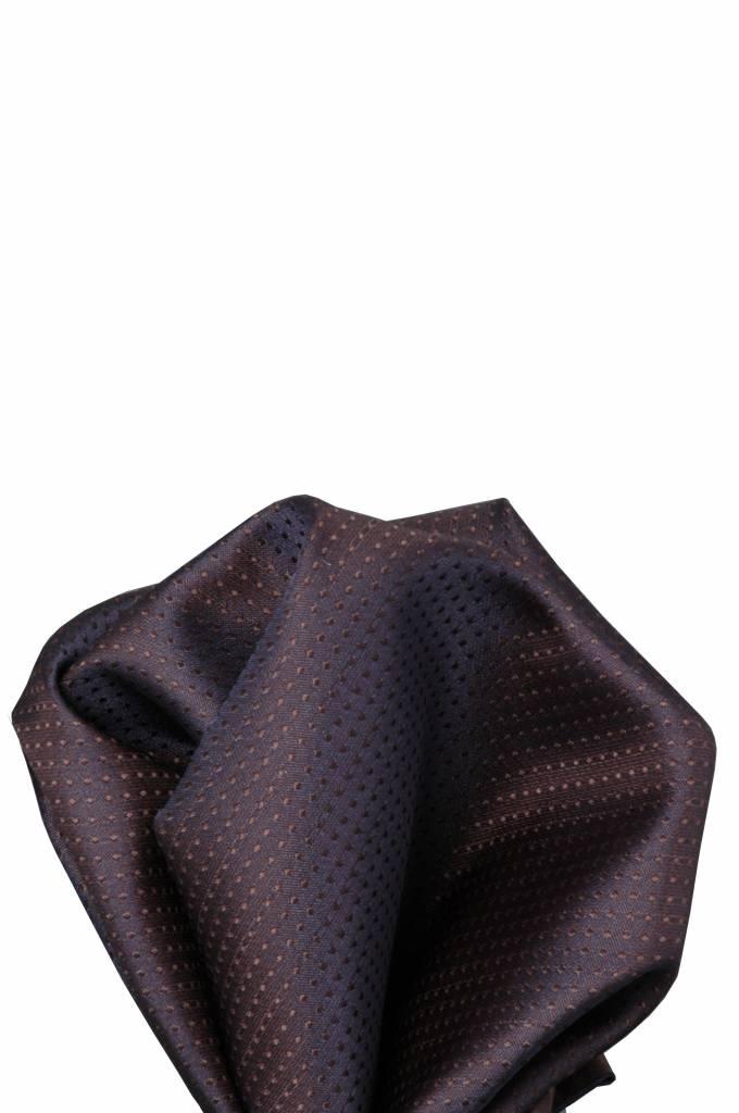 Paaers/bruine zijden pochet 23