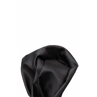 Volare Collection  Zwart/grijs zijden pochet 18