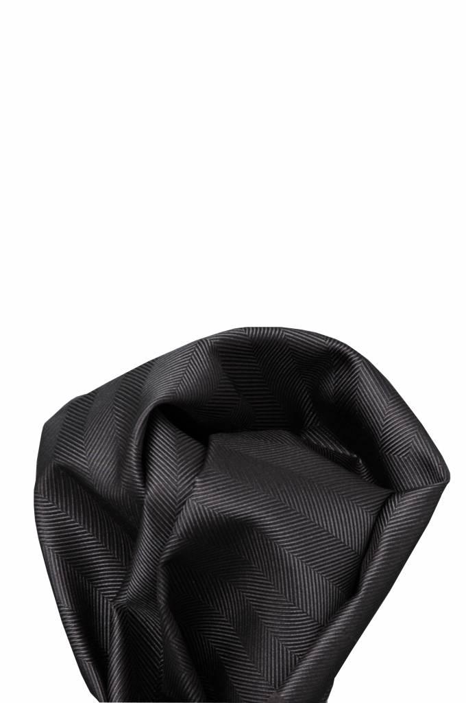 Zwart/grijs zijden pochet 18