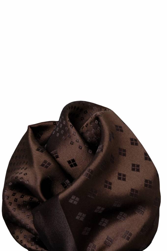 Bruine zijden pochet 11