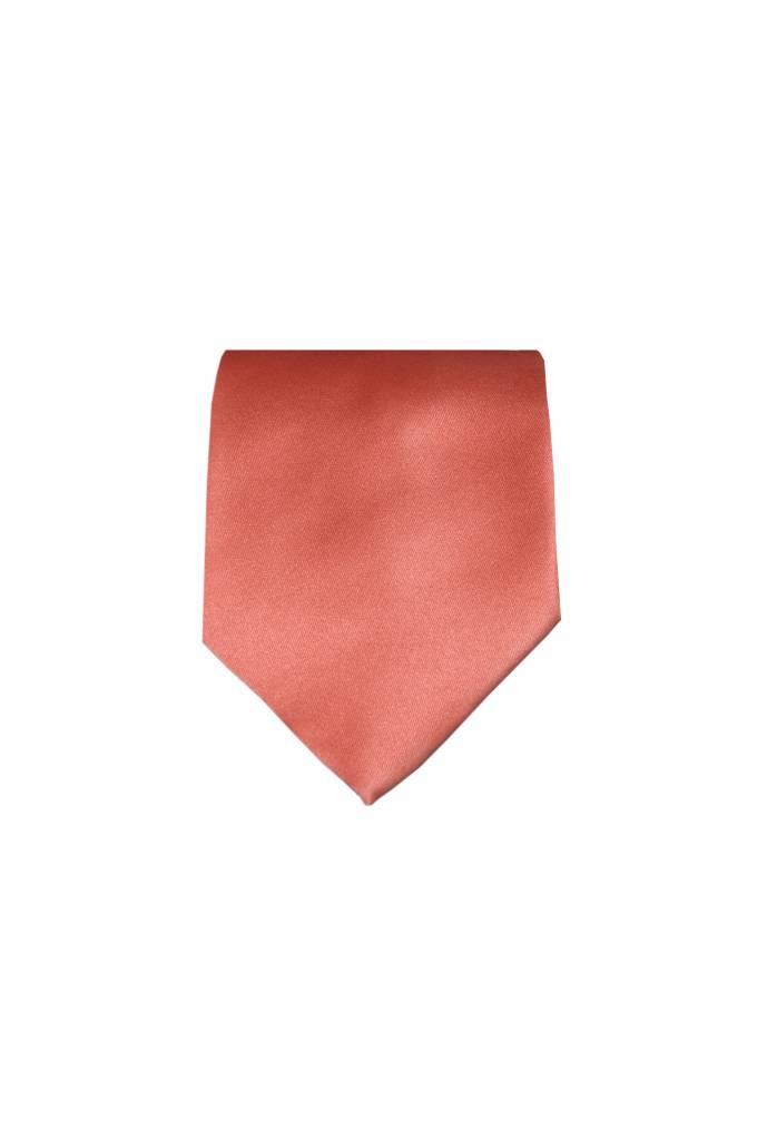 Een effen oranje sevenfold stropdas v. Mogador