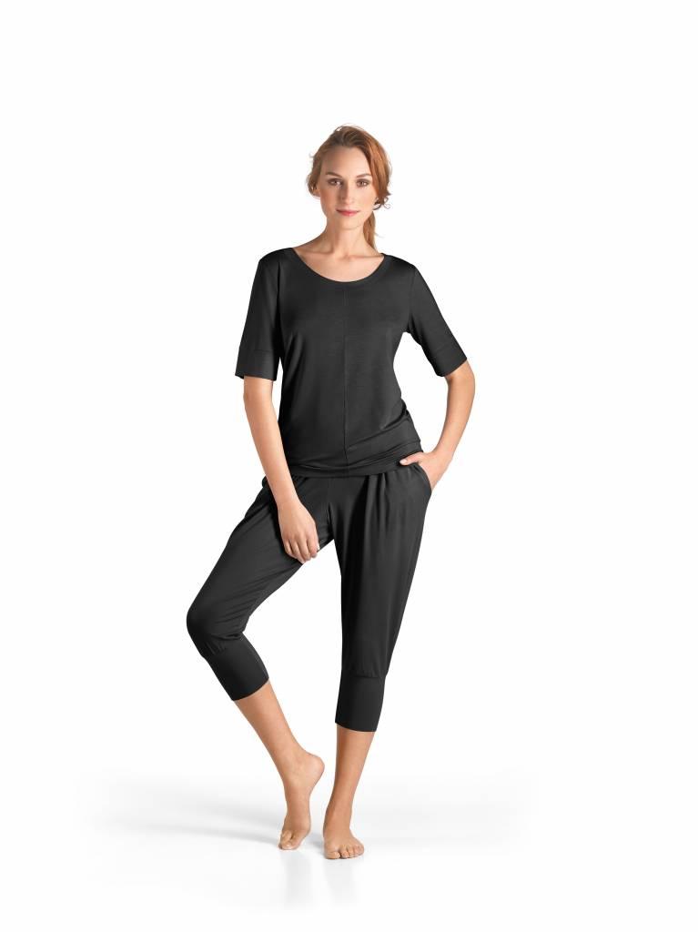Hanro Damen Kleidung yoga top halber Ärmel 77994 | Italian ...