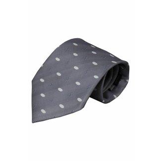Vincelli Alberto  Grey silk necktie Paola 01
