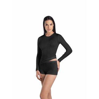 Hanro  Dames·shirt·Rnek·l/slv·Hanro·Woolen Silk·71409