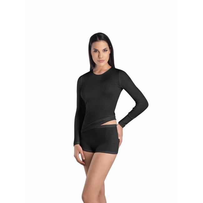 Hanro  Hanro Ladies ski underwear Wool & Silk r/n l/slv shirt grey 071409