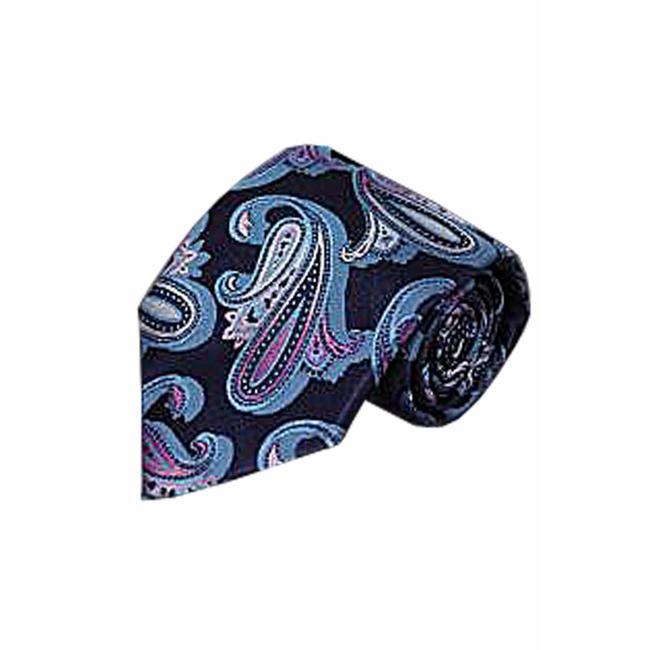 Massimo-Valeri  Blauwe stropdas V09