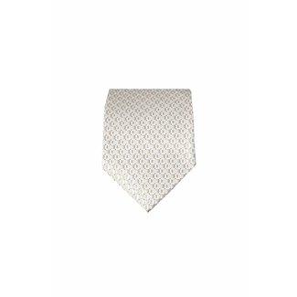 Massimo-Valeri  Crème zijden stropdas M04