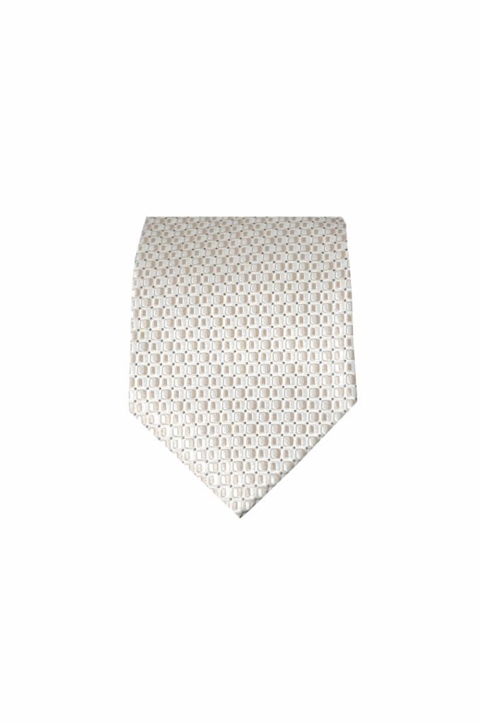 Crème zijden stropdas M04