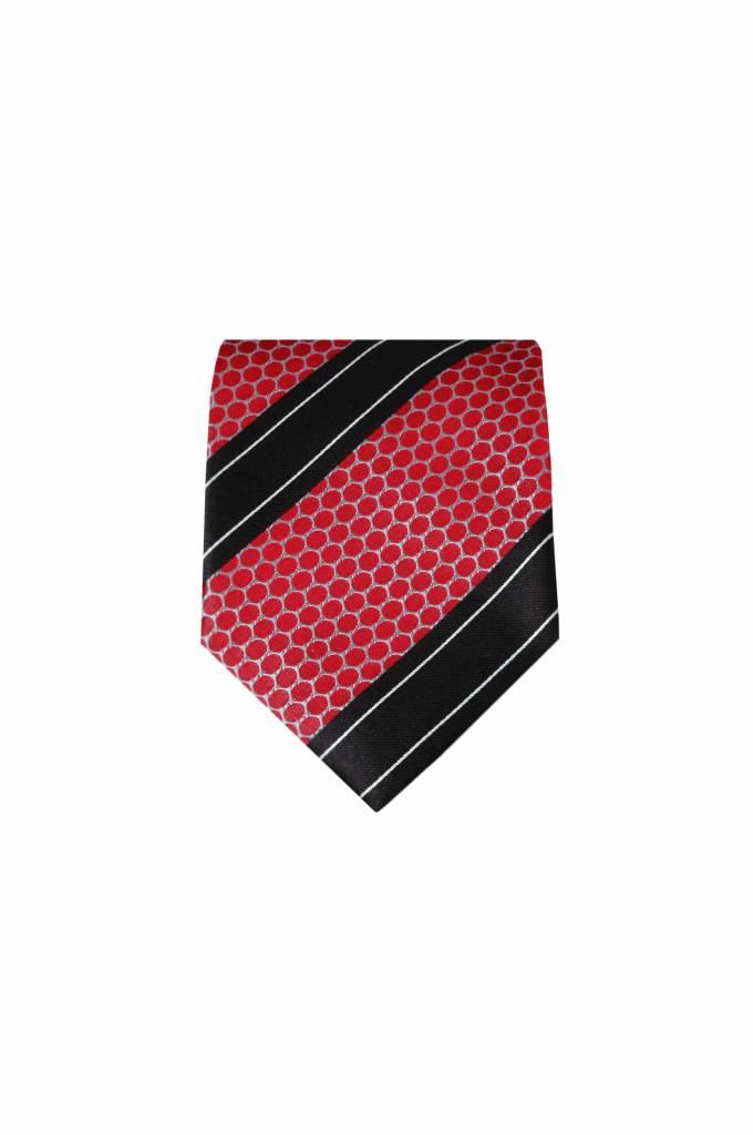 Rode zijden stropdas M22