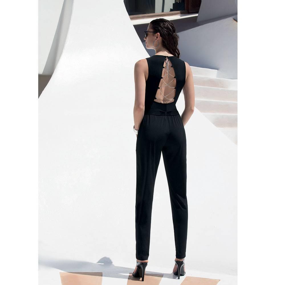 Jumpsuit Tresses Bijoux zwart ASA3020B