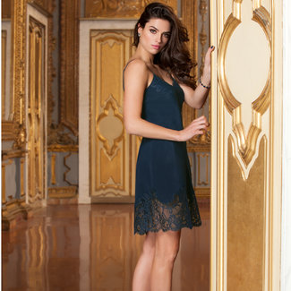 Lise Charmel Lise Charmel Lingerie Soir de Venise Silk Night dress blue