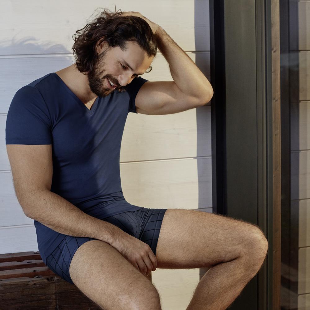Hanro heren ondergoed Shadow pants navy blauw