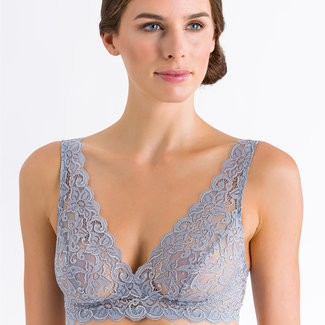Hanro  Hanro Damen dessous Moments bralette grau 71465