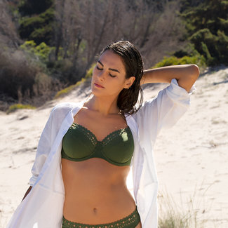 Lise Charmel Lise Charmel Badmode Ajourage Couture bikini top grün ABA3515