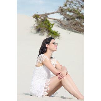 Lise Charmel  Lise Charmel Beachwear Beach Dress Short White Lace ASA15A4