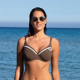 Lise Charmel Swimwear Elegance Couture bikini top taupe ABA3534